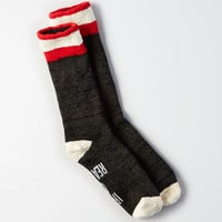 AEO Graphic Crew Socks, Charcoal Heather
