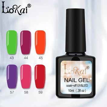 Lokai Gel UV Vernis Semi Permanent 10ML UV Nail Gel Polish Soak Off Long Lasting LED Nail Polish Gel Lacquer 90 Colors 1-30