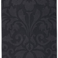 "Urban Brilliance Damask Black Area Rug (1'10""X2'10"")"