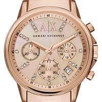 AX Armani Exchange Crystal Marker Chronograph Bracelet Watch, 35mm | Nordstrom