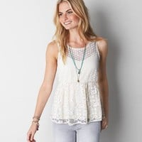 AEO CROCHETED EMPIRE WAIST TANK