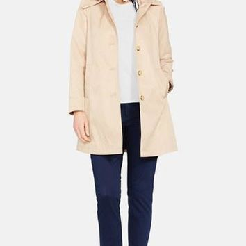 Plus Size Women's Lauren Ralph Lauren Hooded Raincoat