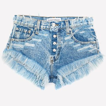 Keepers Wildest Acid Babe High Waisted Jeans Shorts