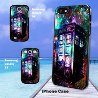 Tardis Doctor Who Colorful Design Print iPhone Case and Samsung Galaxy Case