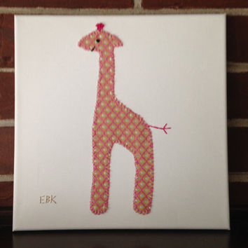 Giraffe #4 Fabric Wall Art