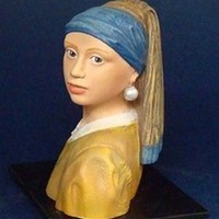 Girl with Pearl Earring Statue Recreation by Vermeer 3.5H