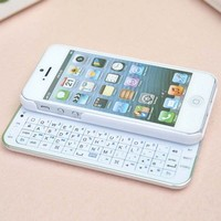 Cool Sliding Bluetooth Wireless Keyboard Case Cover for Iphone4/4s