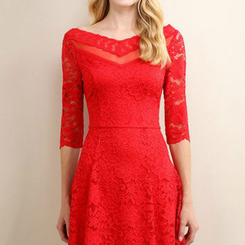 Red Audrina Dress