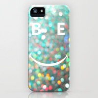 BE HAPPY iPhone Case by RichCaspian | Society6