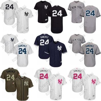 2016 Flexbase New York Yankees 99 Aaron Judge 24 Gary Sanchez Jersey White Grey orange green Mens Stitched Authentic Baseball Jersey