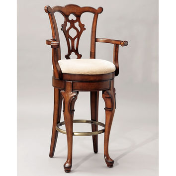 "Jamestown Landing Swivel Arm Barstool 30-3/4"" Seat Height"