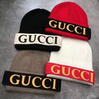 GUCCI Fashion Beanies Winter Embroidery LOGO Hat Cap
