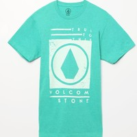 Volcom Stone Stamp T-Shirt - Mens Tee - Blue