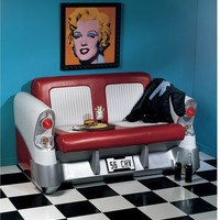 Back Seat Driver Pop Art Sofa - YB2024                       - Design Toscano