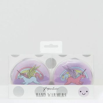Paperchase Unicorn Handwarmers at asos.com