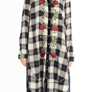 Jane Plaid Embroidered Tunic
