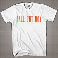 FALL OUT BOY  Mens and Women T-Shirt Available Color Black And White