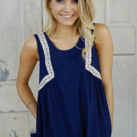 Close Enough Tank (Navy) - Piace Boutique