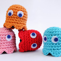Pacman Ghost Adopt set of four by Liebe9 on Etsy