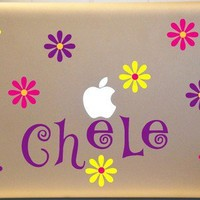 Macbook Personalized Polka Dots Personalized Vinyl Decal for PC MAC | MakeItMineDesigns - Techcraft on ArtFire