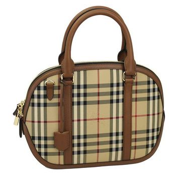 VONW3Q Burberry Horseferry Check Hand Bag w/Strap 3939335