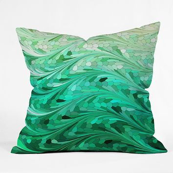Lisa Argyropoulos Emerald Sea Throw Pillow