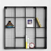 4040 Locust Metal Wall Rack- Black One