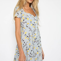 Kellis Dress - Grey Floral