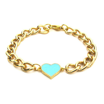 Emily Arm Candy Small Chunky Smooth Gold Chain by PopCultureJunkie