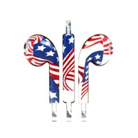 iPhone Stereo Earphone Headset (USA Flag)