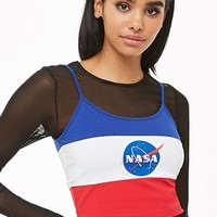 NASA Colorblock Cropped Cami