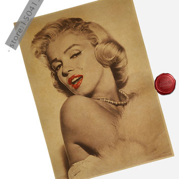 American Actress Marilyn Monroe Sexy Lips Poster 16X12