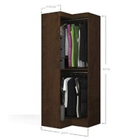 "Bestar Pur 32"" Corner Storage Unit in Chocolate"