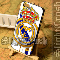 Real Madrid FC Logo - iPhone 4/4s/5/5s/5c Case - Samsung Galaxy S3/S4/S3-mini Case - Black or White