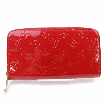 Authentic Louis Vuitton Zippy Wallet Reds Vernis 133617