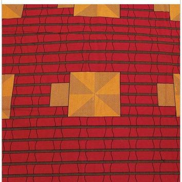 African Print Fabric: Red