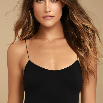 Free People Brami Black Bra Top