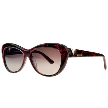 Valentino Red Pearl Cateye Sunglasses