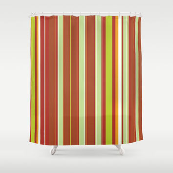 Colored Stripes Shower Curtain by Colorful Art | Society6