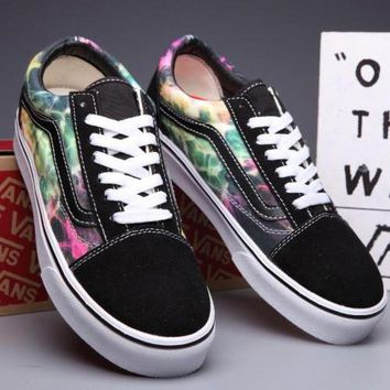 VLXZRBC Trendsetter VANS Old Skool Canvas Galaxy Print Flats Sneakers Sport Shoes