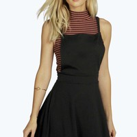 Alexa Cross Back Pinafore Dress