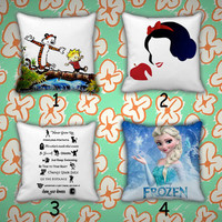Pillow Case, Pillow Cover, Cartoon, Frozen Cute.