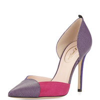 Greer Colorblock d'Orsay Pump, Bordeaux/Multi - SJP by Sarah Jessica Parker