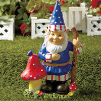 Patriotic Mr. Gnome Statue Figurine 4th of July Americana Home Yard Garden Decor