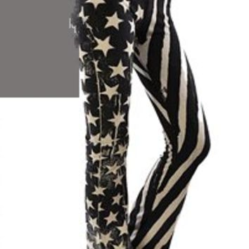 Patriotic American Flag Yoga Pants by T-Party