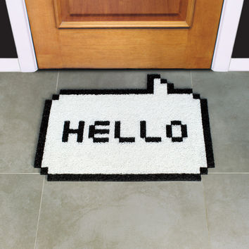 I liked this design on #Fab. Hello 8Bit Doormat White