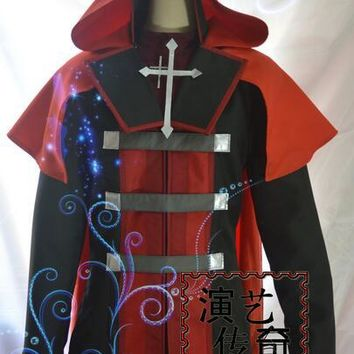 RWBY Red Trailer Ruby Cosplay Costume Men Style