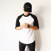 Henry Baseball Tshirt (Black/White)