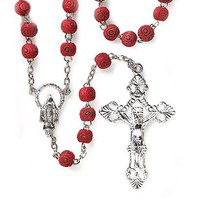 Rose Scented Carved Rose Petal Rosary