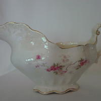 Antique Gravy Boat by Buffalo Pottery, early 1900's